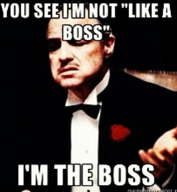 godfather like a boss meme