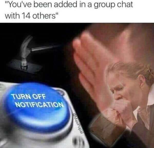 group chat added meme