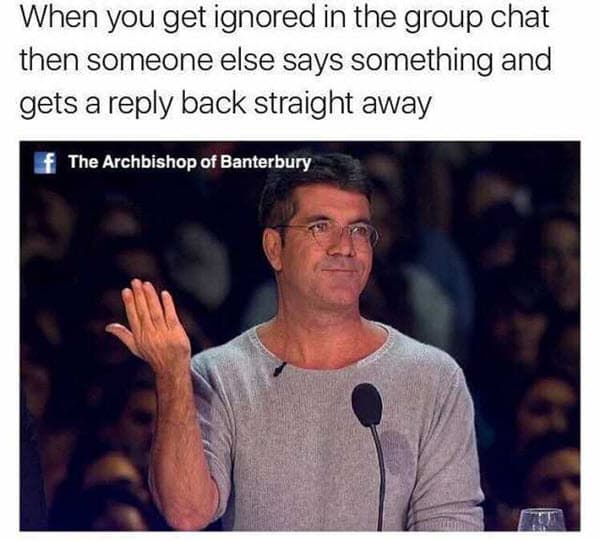 group chat ignored meme