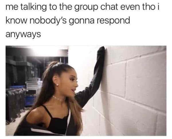 group chat me talking meme