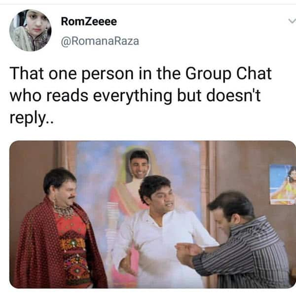 group chat reads everything meme