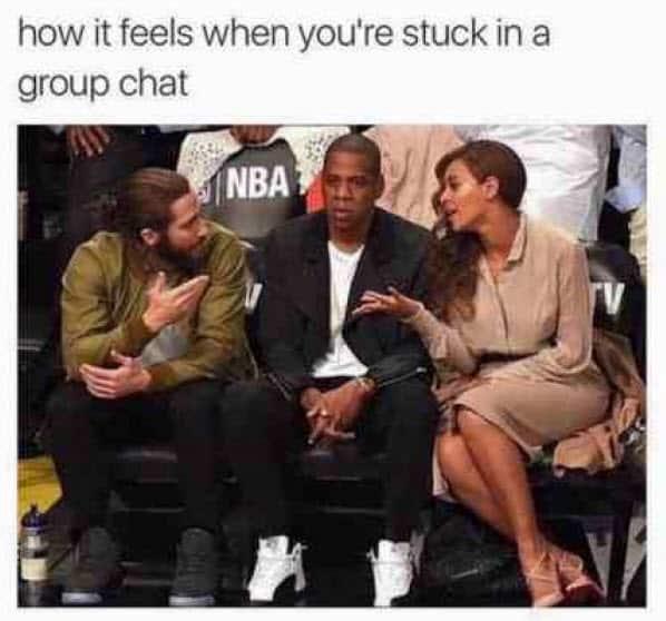 group chat stuck meme