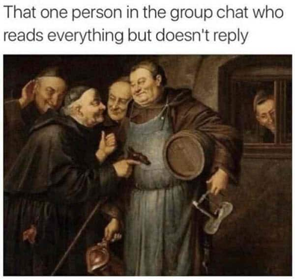 group chat that one person meme
