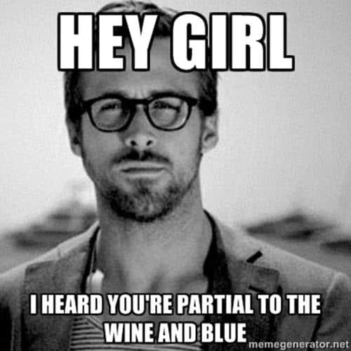 happy birthday wine hey girl meme