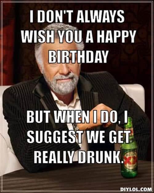 happy birthday wine i dont always meme