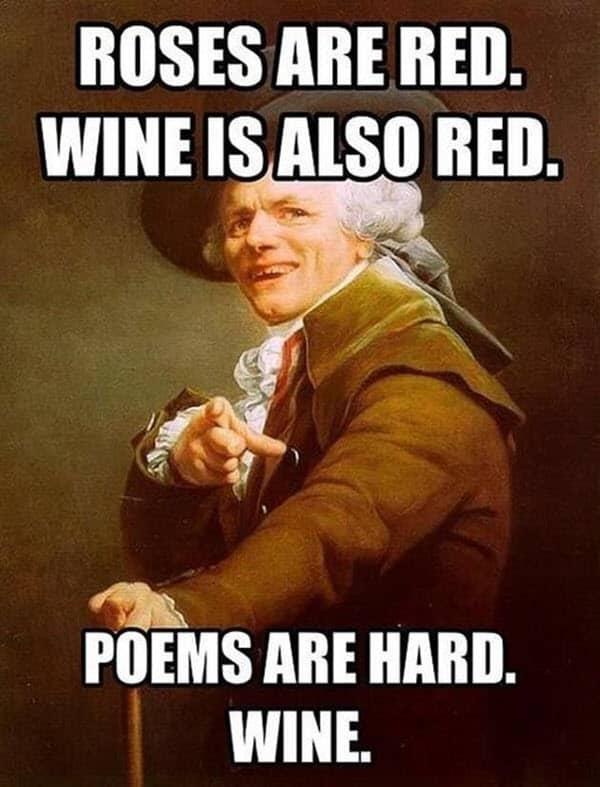 happy birthday wine is also red meme