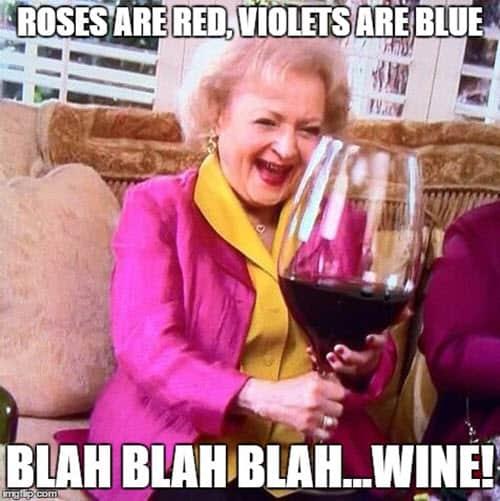 happy birthday wine roses are red meme