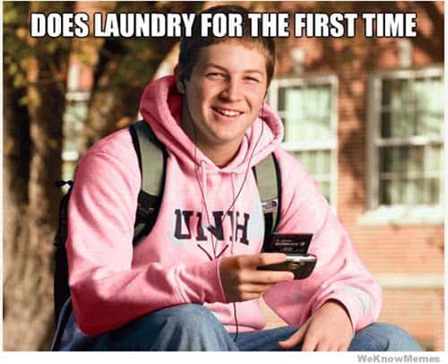 laundry first time meme