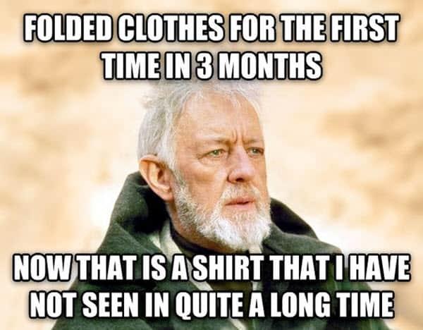 laundry folded clothes meme