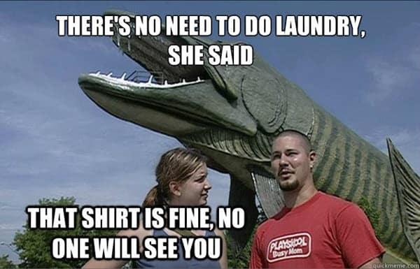 laundry shirt is fine meme