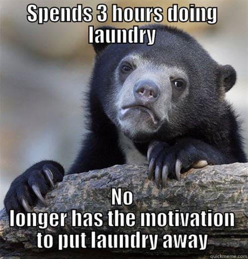 laundry spends 3 hours meme