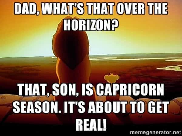 capricorn dad meme