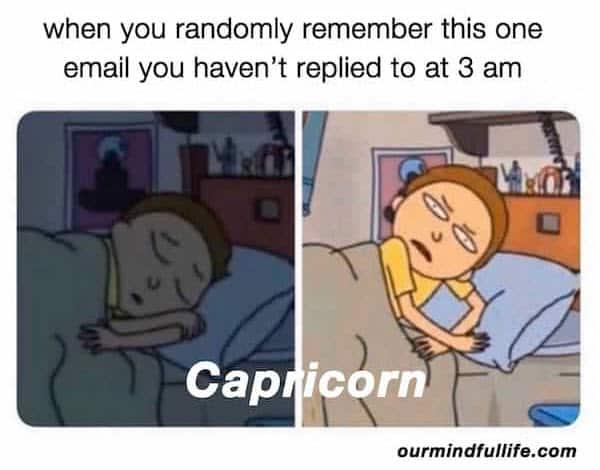 capricorn randomly remember meme