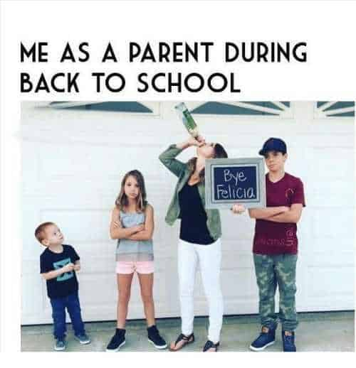 first day of school as a parent meme