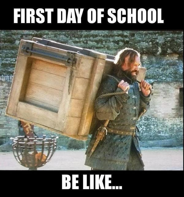 first day of school be like meme