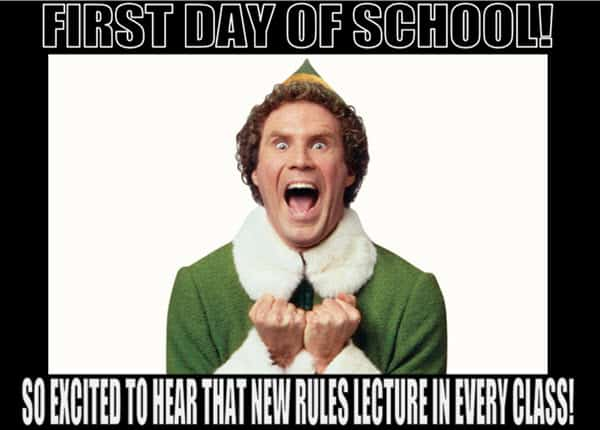 first day of school excited meme