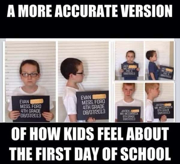 first day of school more accurate meme