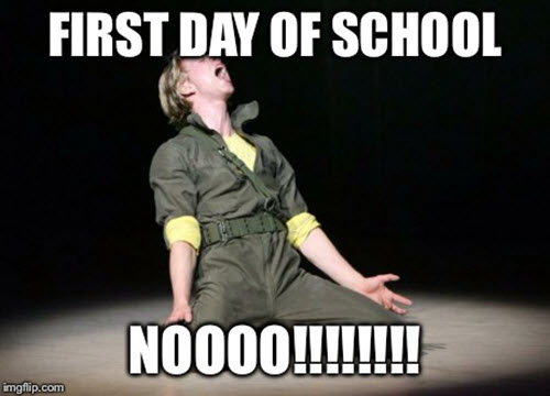 first day of school no meme