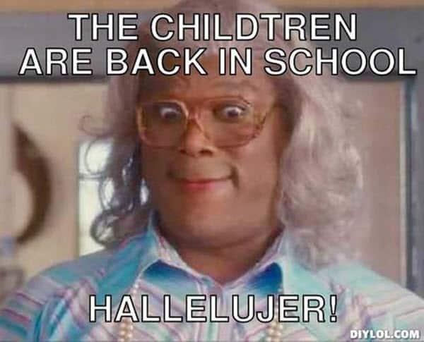 first day of school the children meme