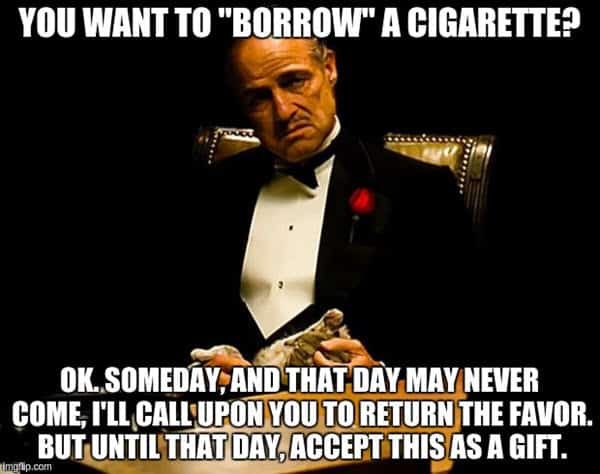 godfather borrow a cigarette meme