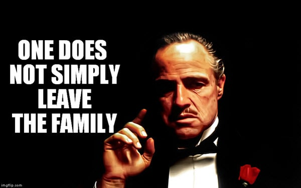 godfather leave the family meme