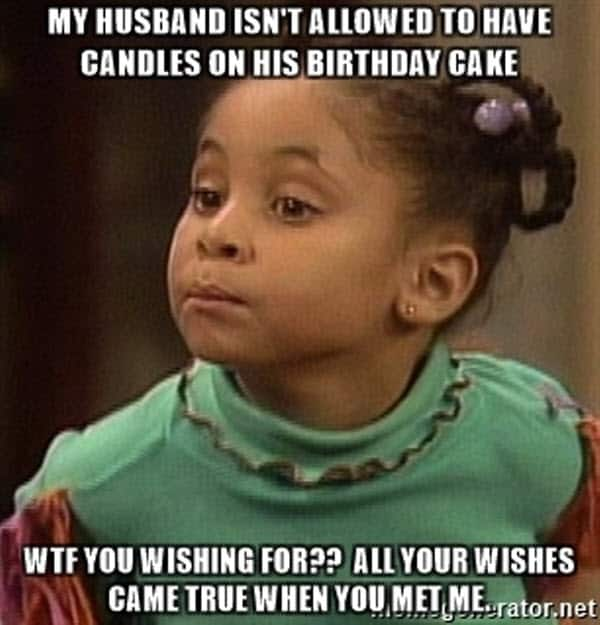 happy birthday cake husband meme