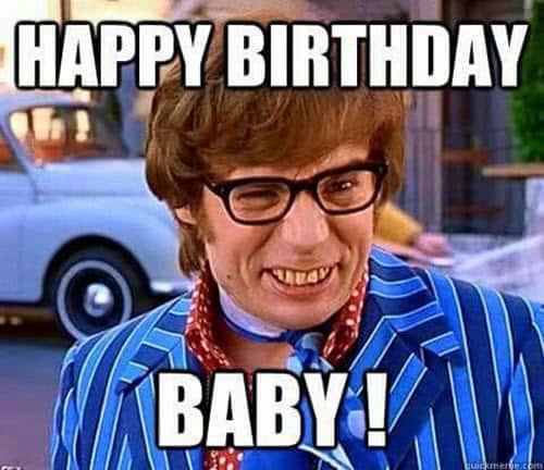 happy birthday husband baby meme