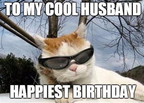 happy birthday husband cool meme