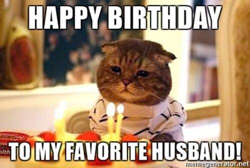 happy birthday husband favorite meme