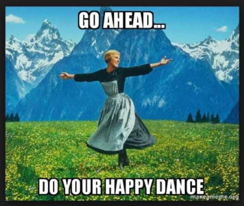 happy dance go ahead meme