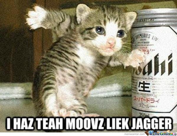 happy dance jagger meme