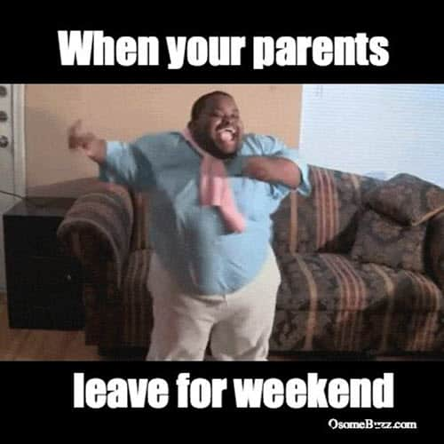 happy dance parents meme