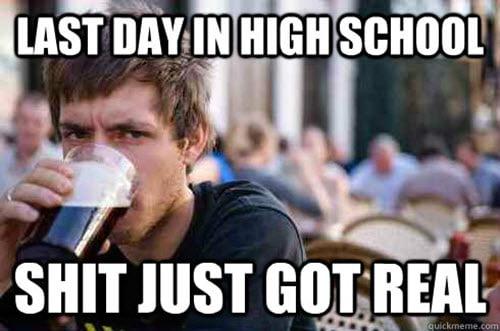 last day of high school meme