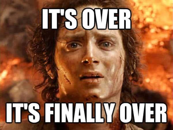 last day of school finally over meme