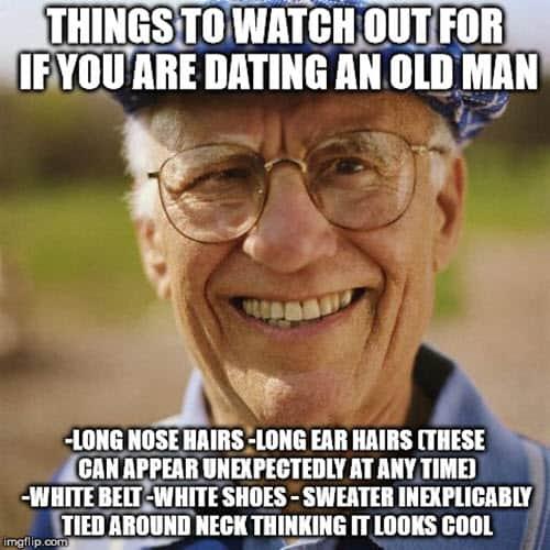 men dating old man memes