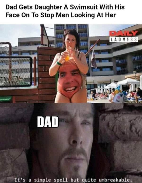 men gets daughter a bathing suit memes