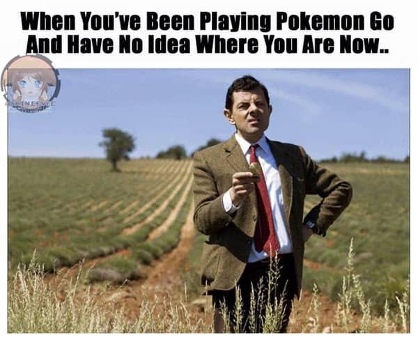 mr bean been playing pokemon go meme