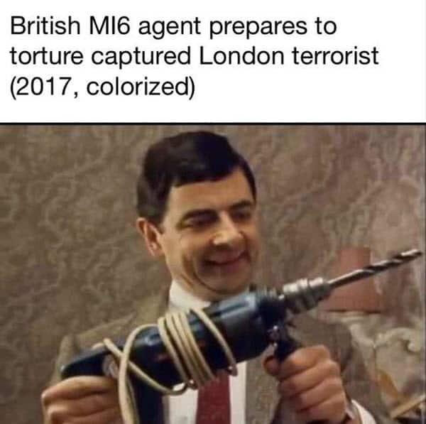 mr bean british m16 meme