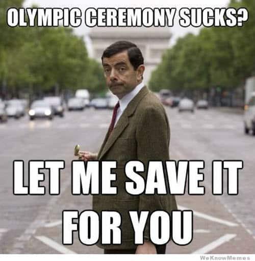 mr bean olympic ceremony meme