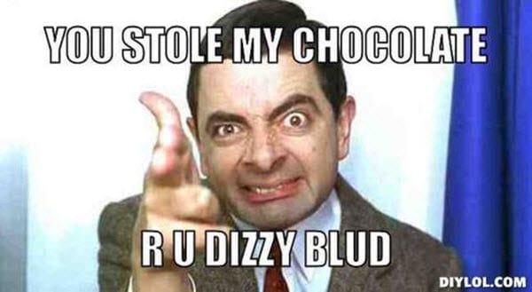 mr bean stole my chocolate meme