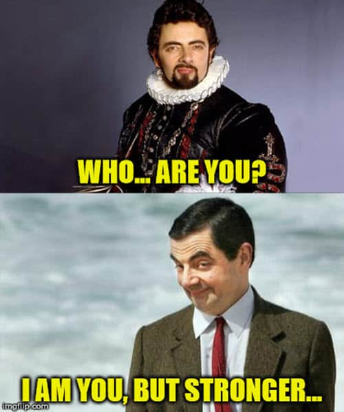 mr bean who are you meme