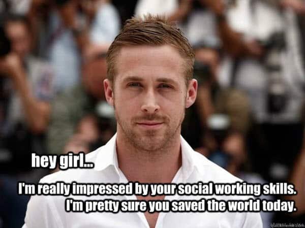 social work hey girl meme