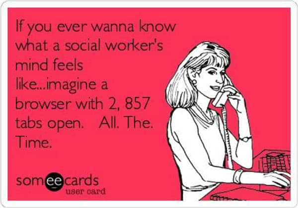 social work mind meme