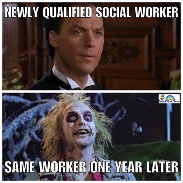 social work newly qualified meme