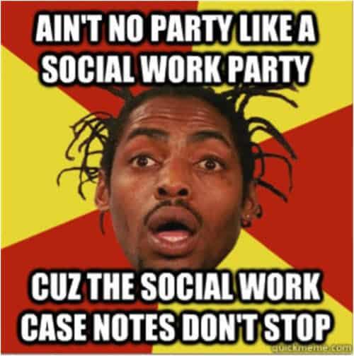 social work party meme