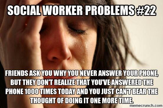 social work problems meme