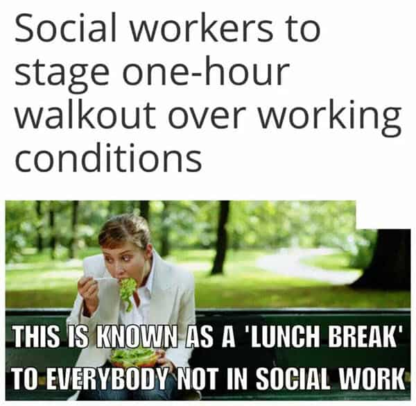 social work stage one hour workout meme