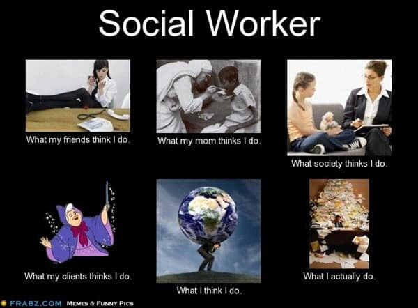 social work worker meme