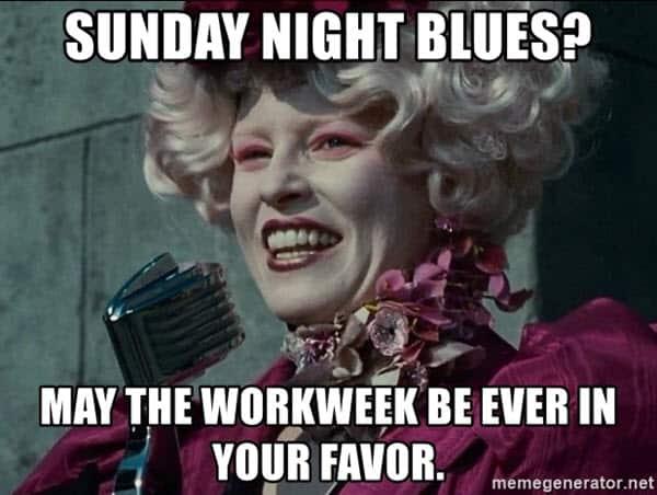 sunday night blues meme