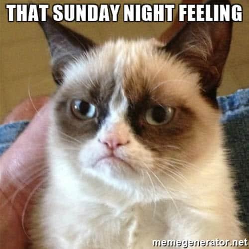 sunday night feeling meme